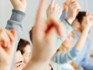 classroom,students,hands-up,learning