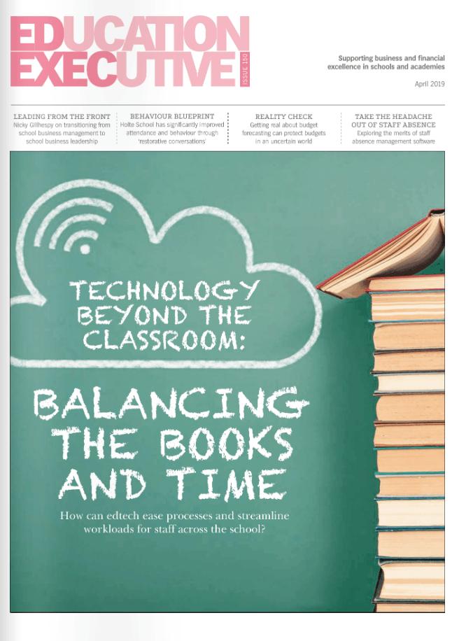 Education Executive Magazine Cover April 2019