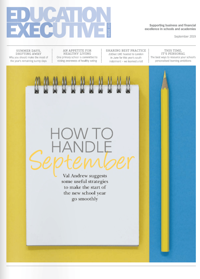Education Executive Magazine Cover September 2019
