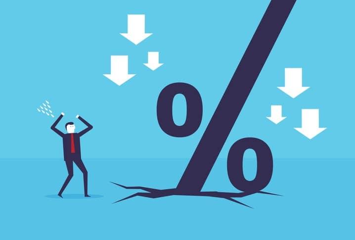 Business percent down