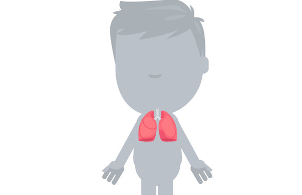 silhouetted illustration of a child with visible lungs
