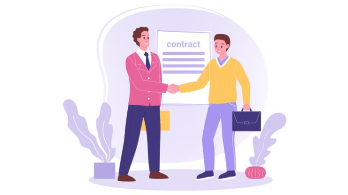 Shaking the hand of a new hire