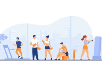 People working out in a group