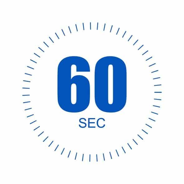 60 second time design over white background, vector illustration. EPS 10