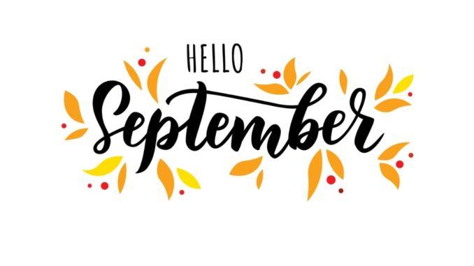 hello september - illuminated text
