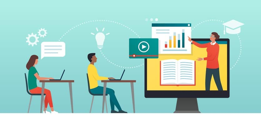 E-learning platform and distance learning