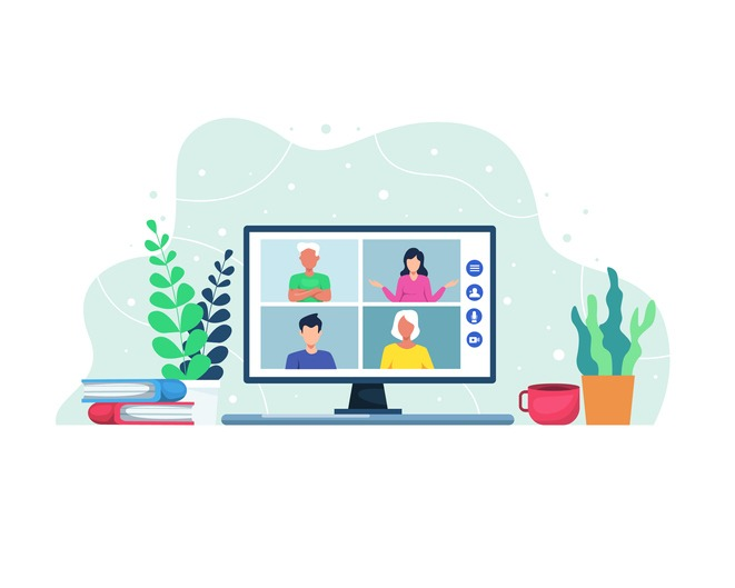 Vector illustration Video conference concept