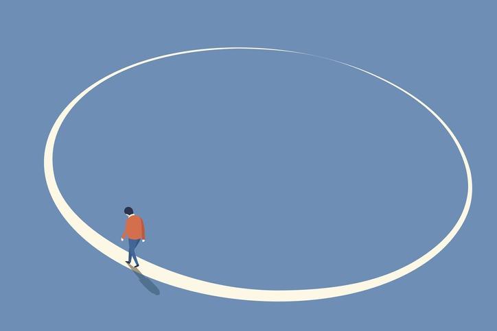 Walking in circle